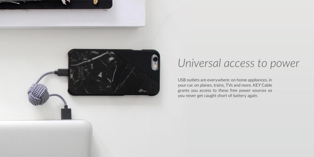 Native Union Key Cable - univerzální stylová nabíječka